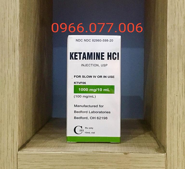 Thuốc mê cực mạnh Ketamine HCL 1000mg/ml dạng nước