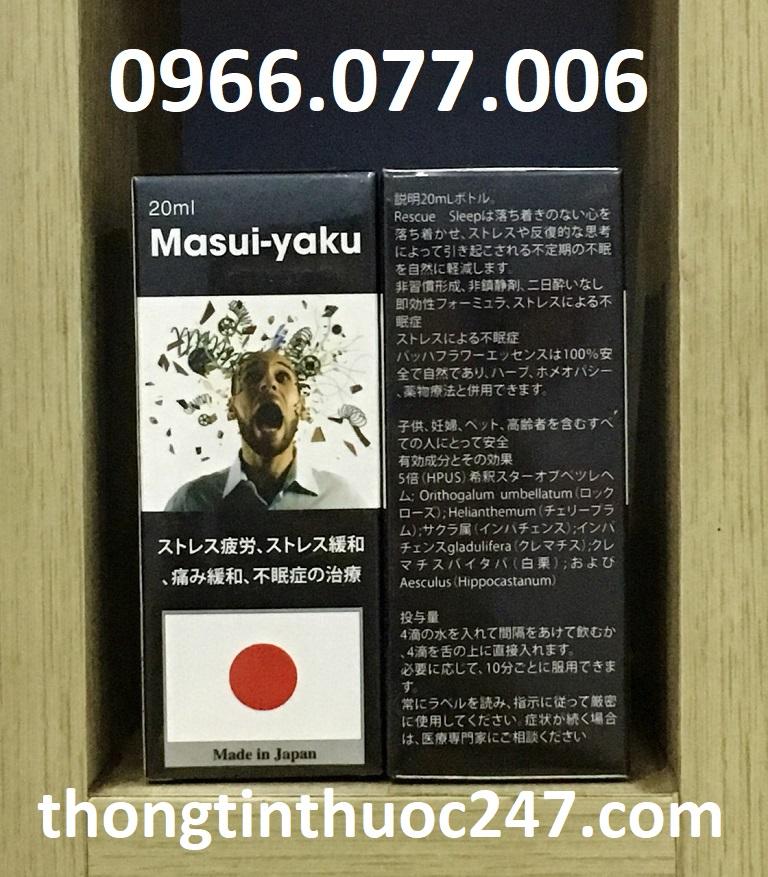 Thuốc ngủ dạng nước của Nhật Masui-Yaku