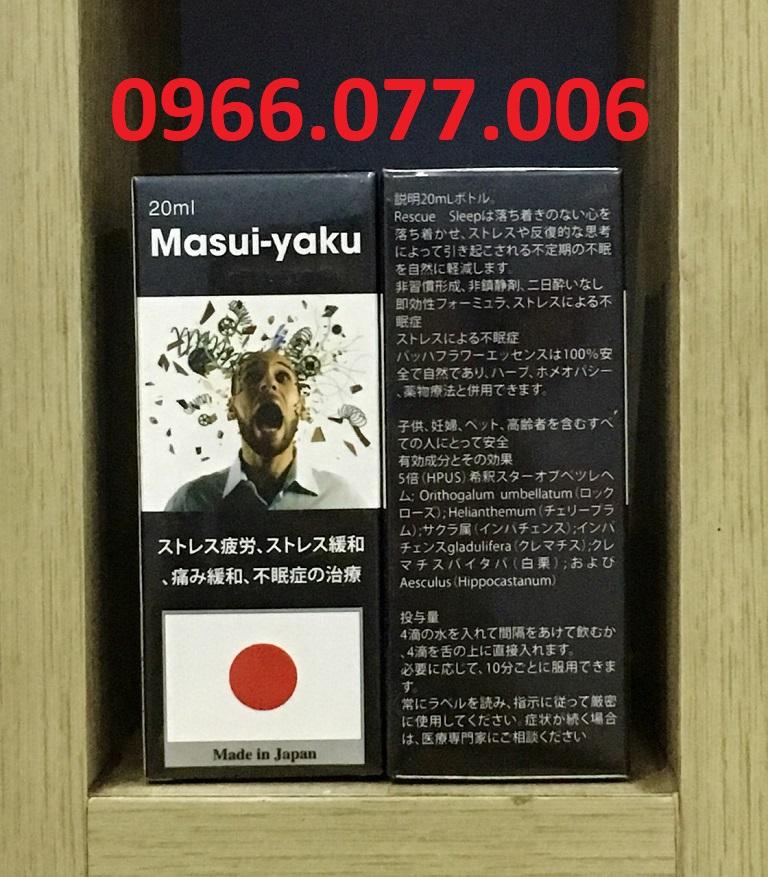 Thuốc ngủ dạng nước Masui - Yaku của Nhật