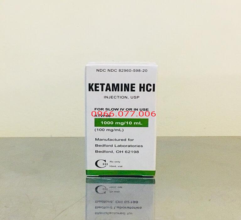Thuốc mê loại mạnh Ketamine HCL 1000mg/ml dạng nước