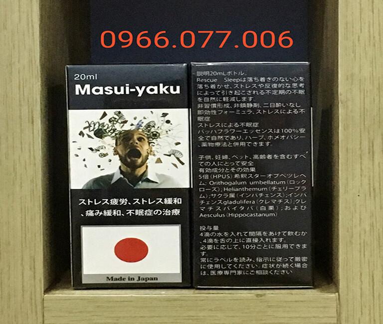 Thuốc ngủ tác dụng mạnh Masui - Yaku Nhật
