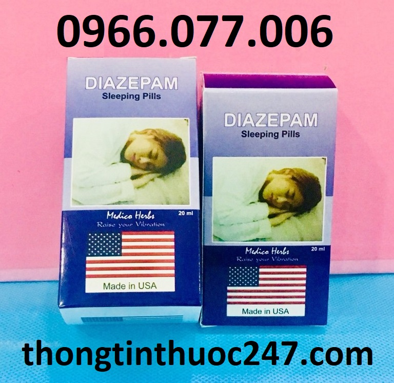 Thuốc ngủ dạng nước tốt nhất của Mỹ Diazepam