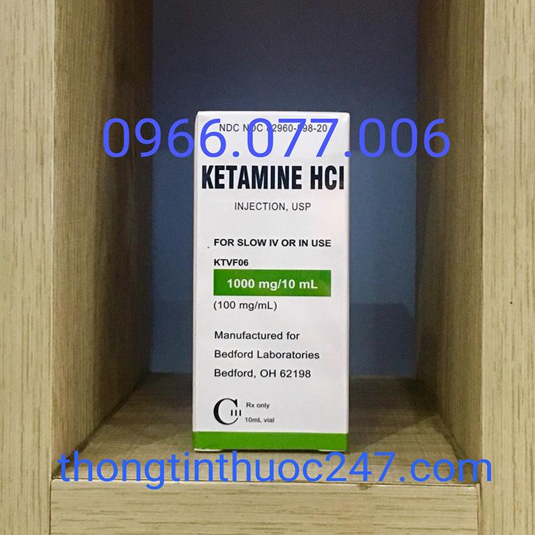 Thuốc mê dạng nước Ketamine HCL 1000mg/ml