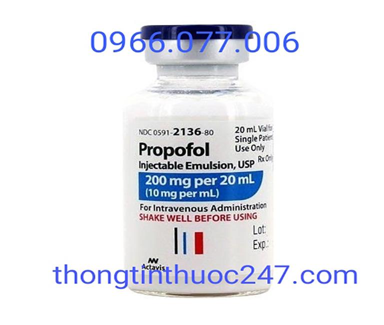 Thuốc mê dạng tiêm tĩnh mạch Propofol