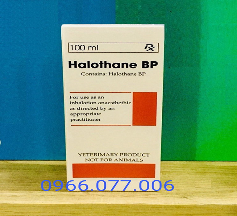 Thuốc mê Halothane 100ml dạng khí