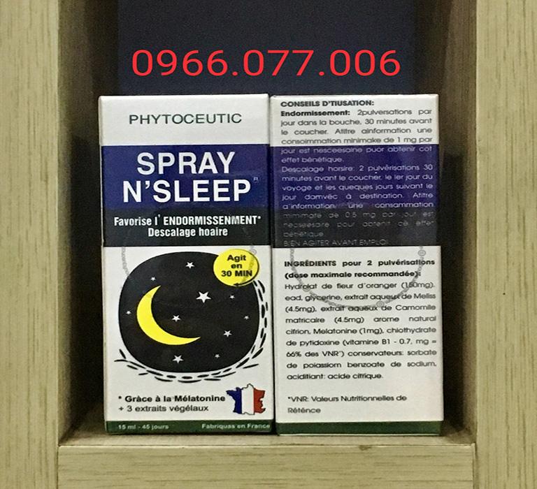 Thuốc ngủ dạng xịt Spray N'Sleep