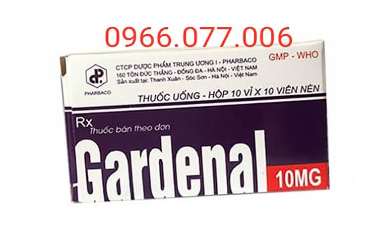 Thuốc ngủ dạng viên nén Gardenal10mg