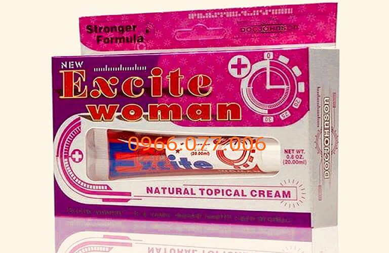 Gel bôi kích dục nữ Excite Woman giúp bôi trơn. làm giảm đau rát khi quan hệ tình dục