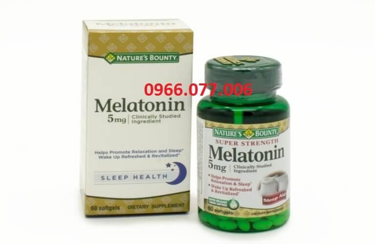 Thuốc ngủ Melatonin của Natures Bounty