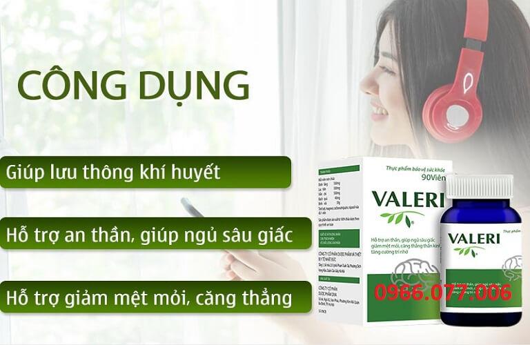 Công dụng của thuốc Valeri
