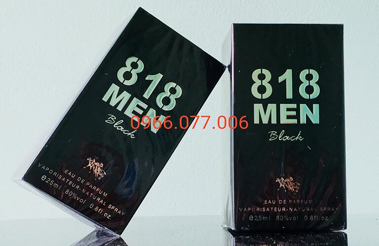 Nước hoa kích dục nữ 818 Men Black dòng sản phẩm cao cấp, kích thích sự ham muốn tình dục một cách mạnh mẽ, tạo thêm nhiều sự hưng phấn