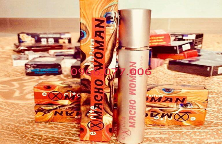 Nước hoa kích dục nữ Macho Woman tác dụng mạnh, giúp nữ giới chủ động hơn trong những cuộc yêu