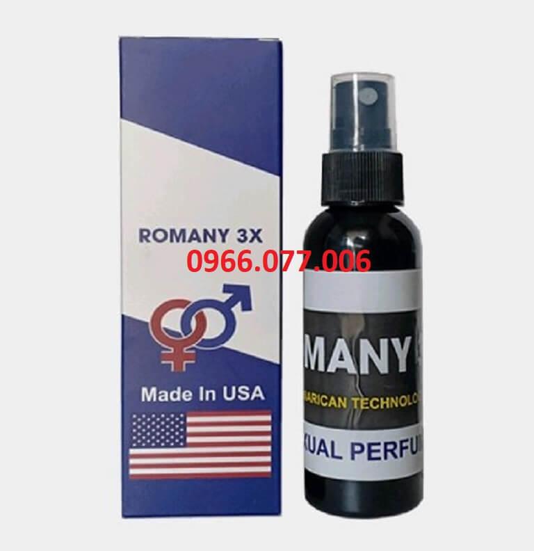 Thuốc kích dục nữ dạng xịt không mùi Romany 3X